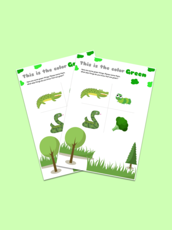 Green Color Worksheet for Preschoolers