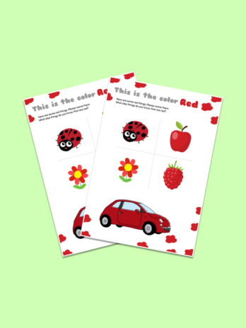Red Color Worksheet