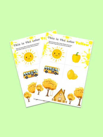 Yellow Color Worksheet