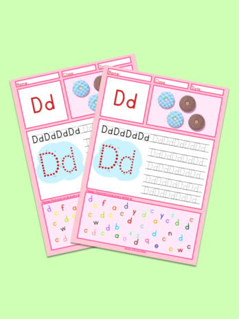 Letter D Tracing Worksheet