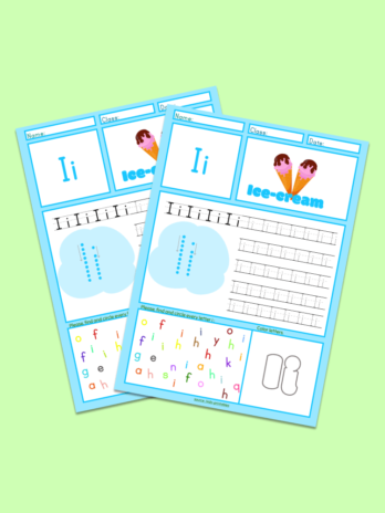Trace Letter I Worksheet