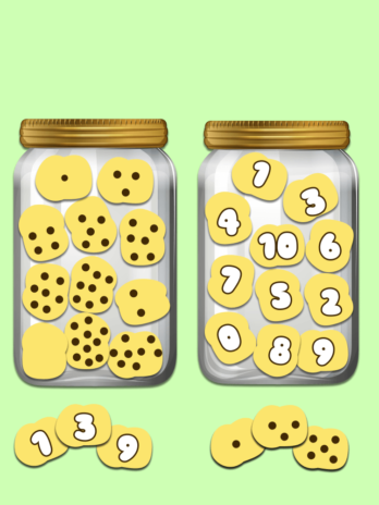 Numbers Game Cookie Jar