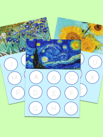 Vincent van Gogh Handwriting Worksheets