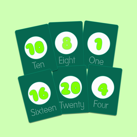 Printable Number Flashcards 1-20