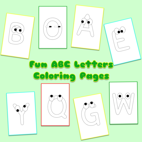 Fun ABC Letters Coloring Pages