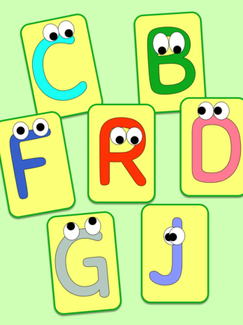 Funny Letters Flashcards