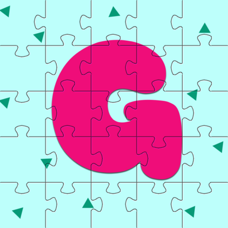 Jigsaw Puzzles with the letter G